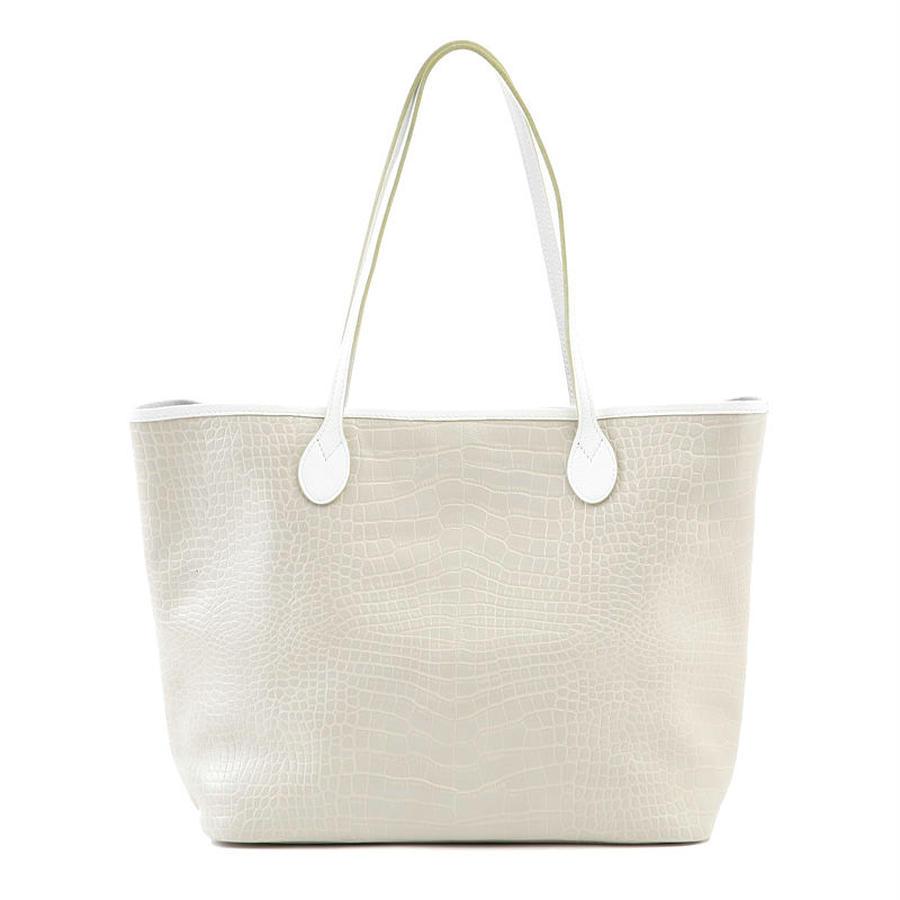 牛革製バッグ/ジュリエット ライトグレー