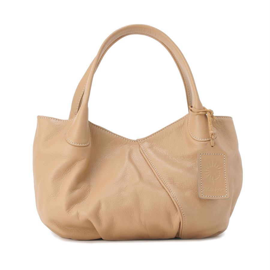 牛革製バッグ/パンプキン ベージュ