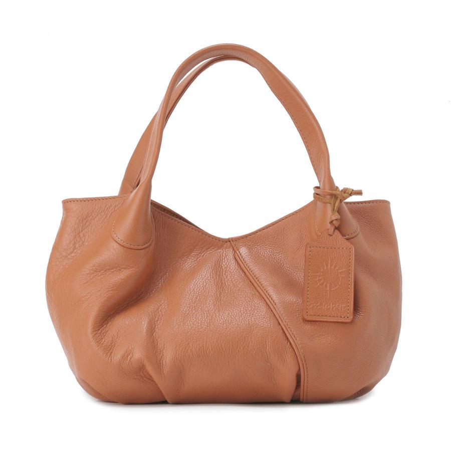 牛革製バッグ/パンプキン キャメル