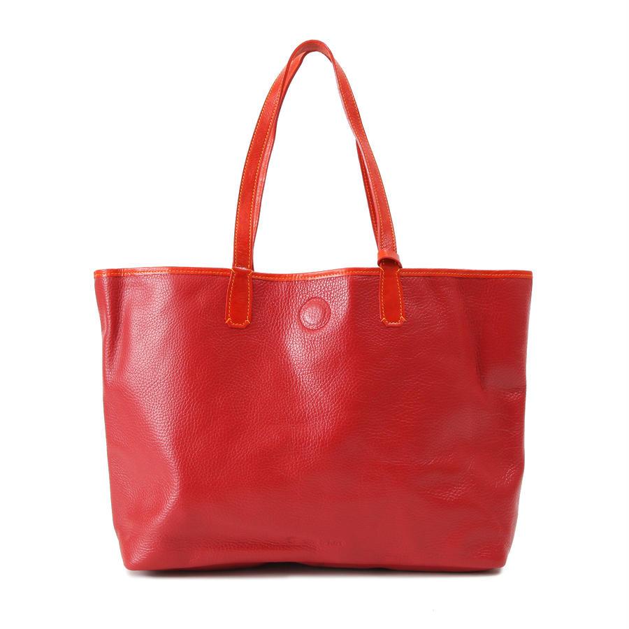 牛革製バッグ/ナオミ レッドL
