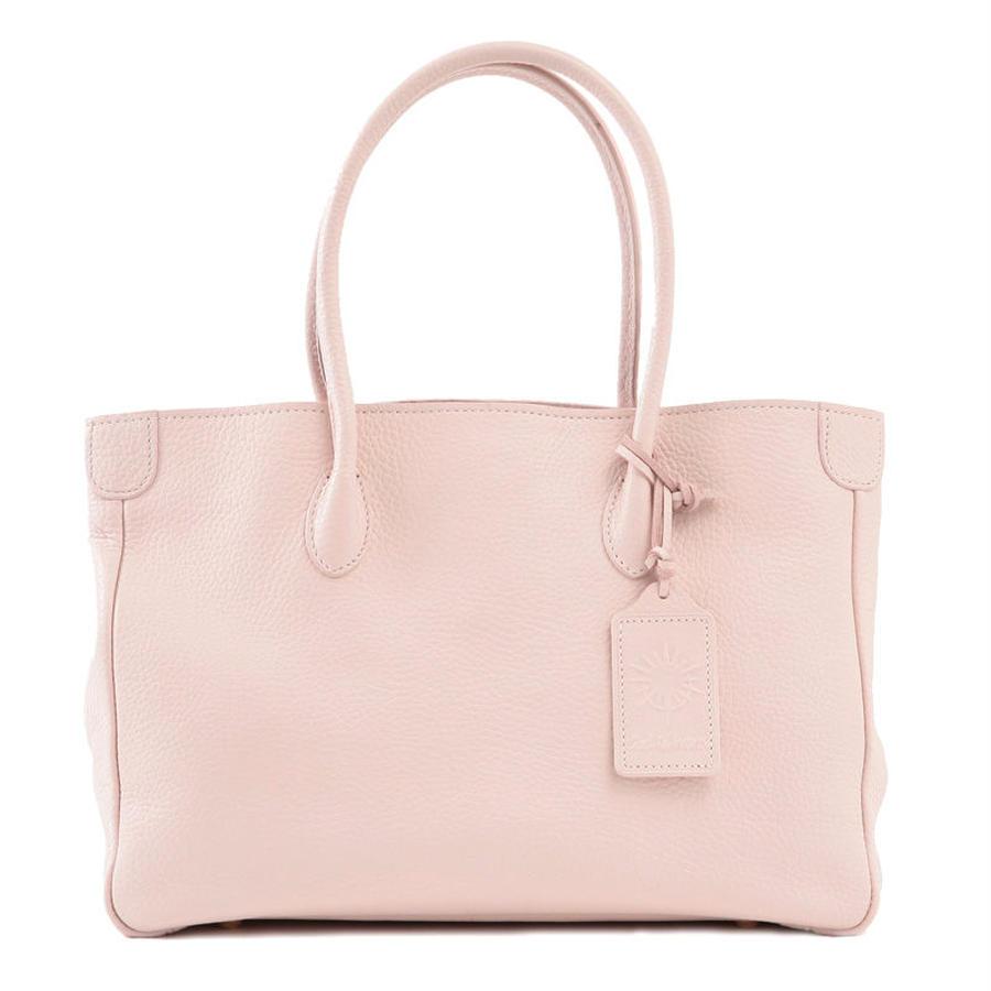 牛革製バッグ/オリビア ホワイトピンクM