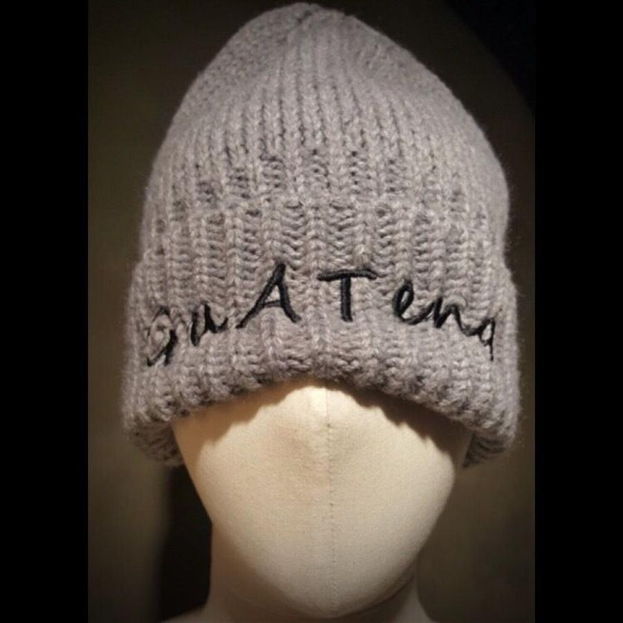 guateng  KNIT CAP gray