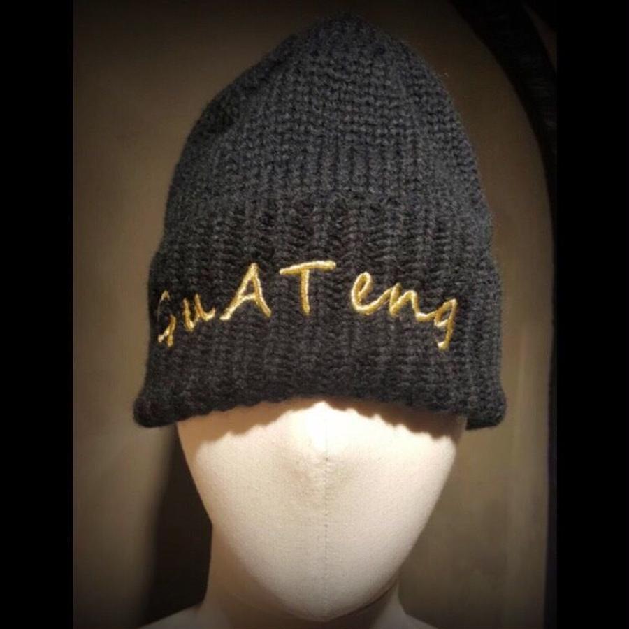guateng  KNIT CAP black