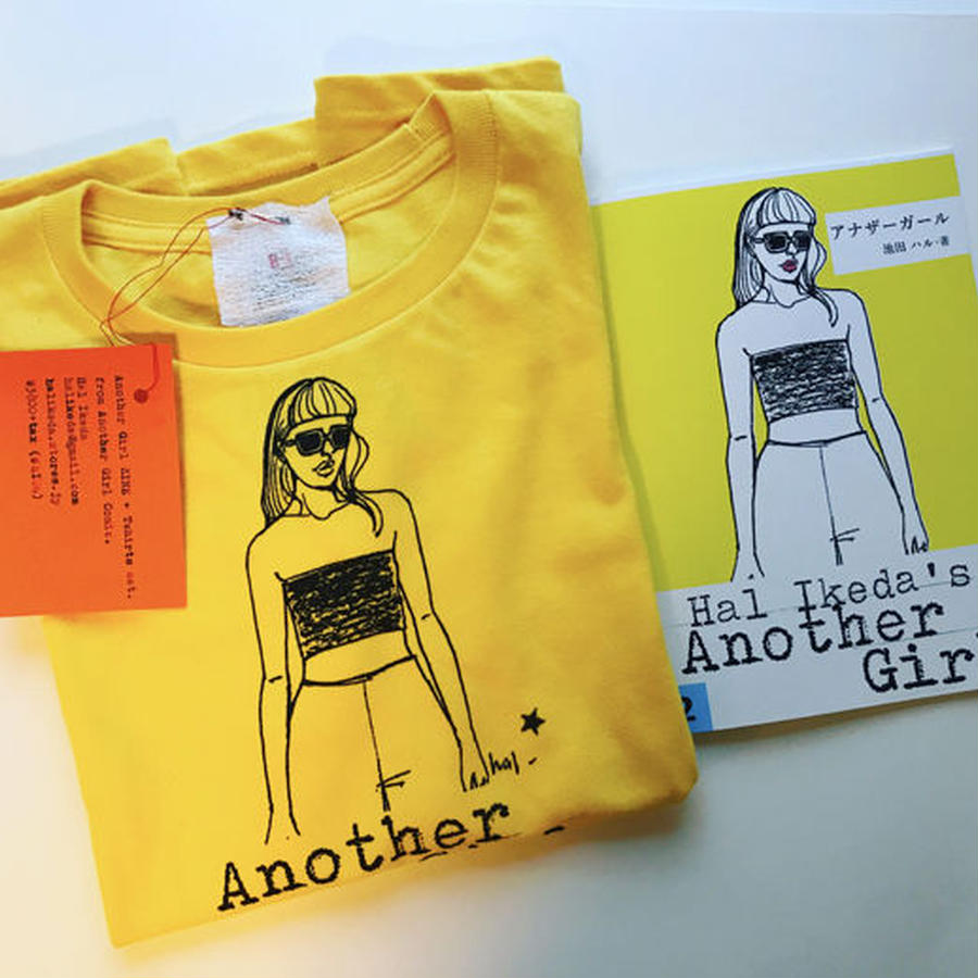 Another Girl ZINE + T-shirts セット・キッズサイズ・ イエロー(150)
