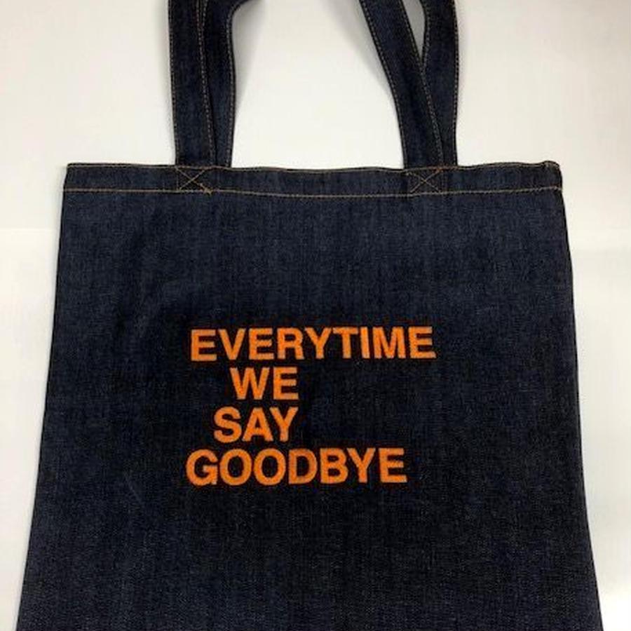 南佳孝・刺繍サイン入りレコードバッグ(オレンジ)