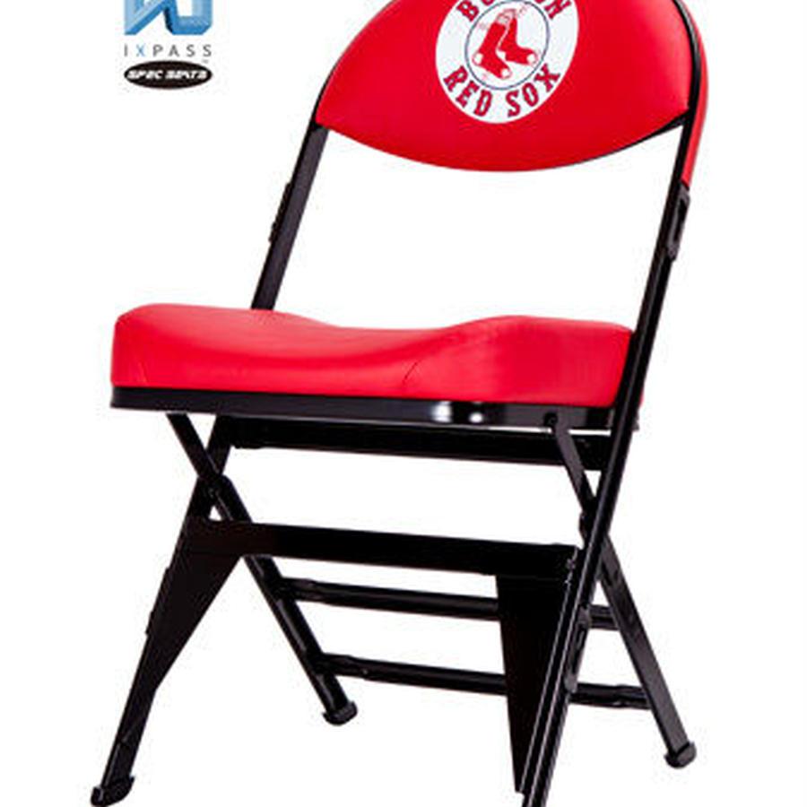 MLB公式ライセンスプレミアム折畳みチェア ボストン・レッドソックス