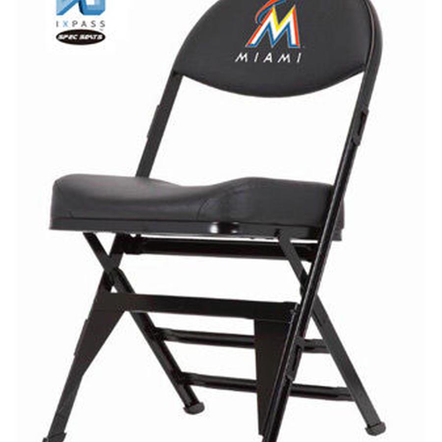 MLB公式ライセンスプレミアム折畳みチェア マイアミ・マーリンズBLK