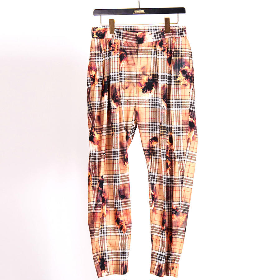 ORIGINAL FIRE CHECK TUCK PANTS(BEIGE)