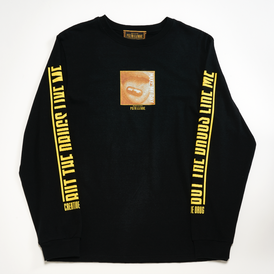 CREATIVE DRUG LONG SLEEVE TEE (BLACK)