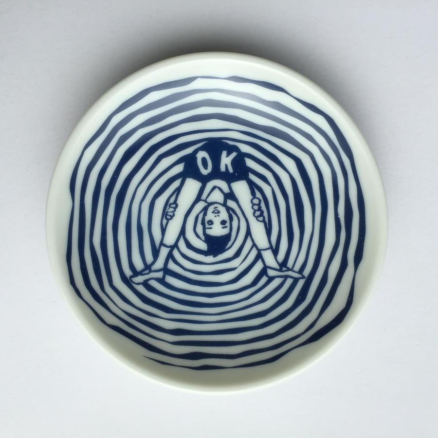 ケイ子のYES豆皿(OK)