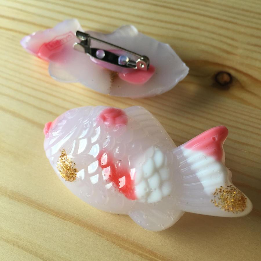 水引ブローチ 鯛