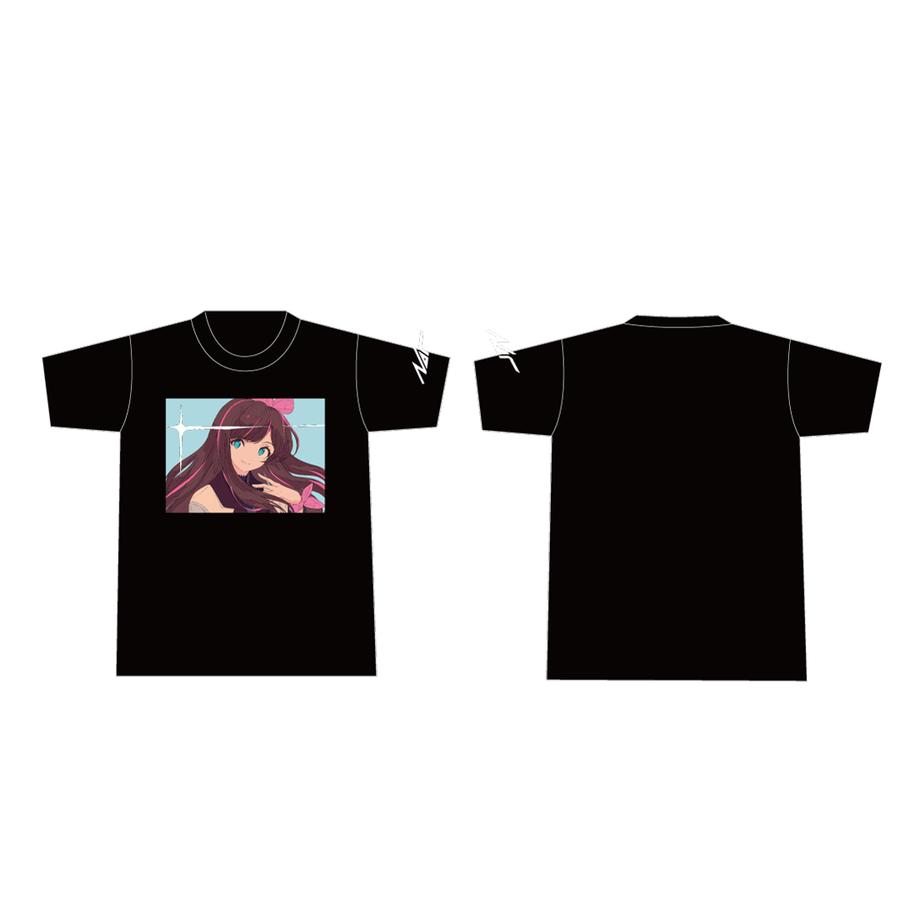 Nor × Kizuna AI Tシャツ Black