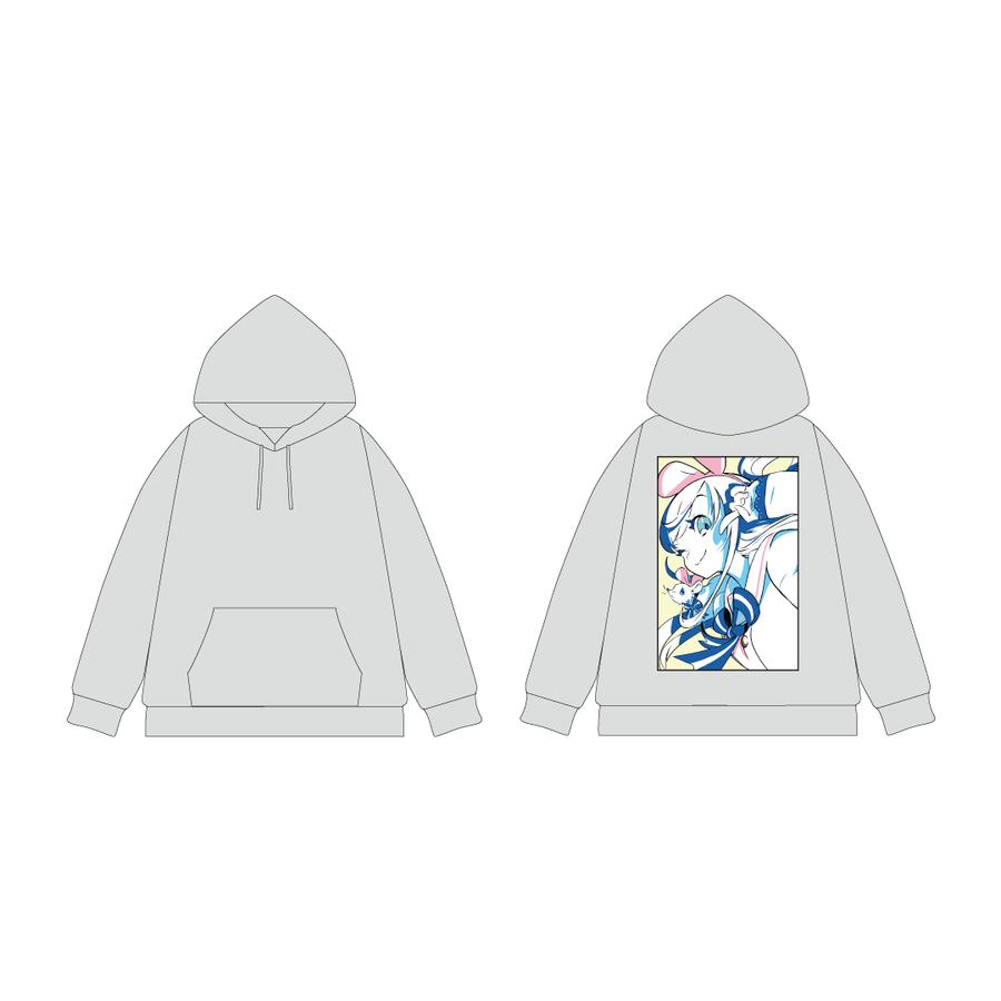 DE DE MOUSE × Kizuna AI プルオーバーパーカー Gray