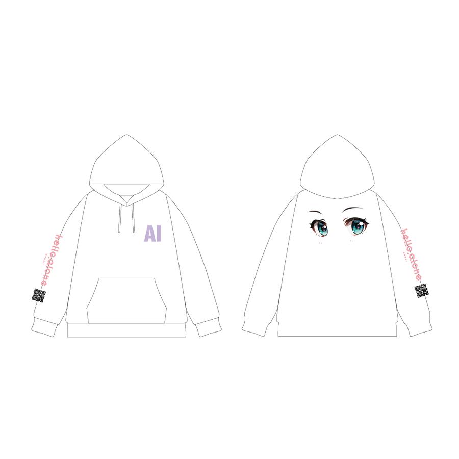 MATZ × Kizuna AI プルオーバーパーカー White