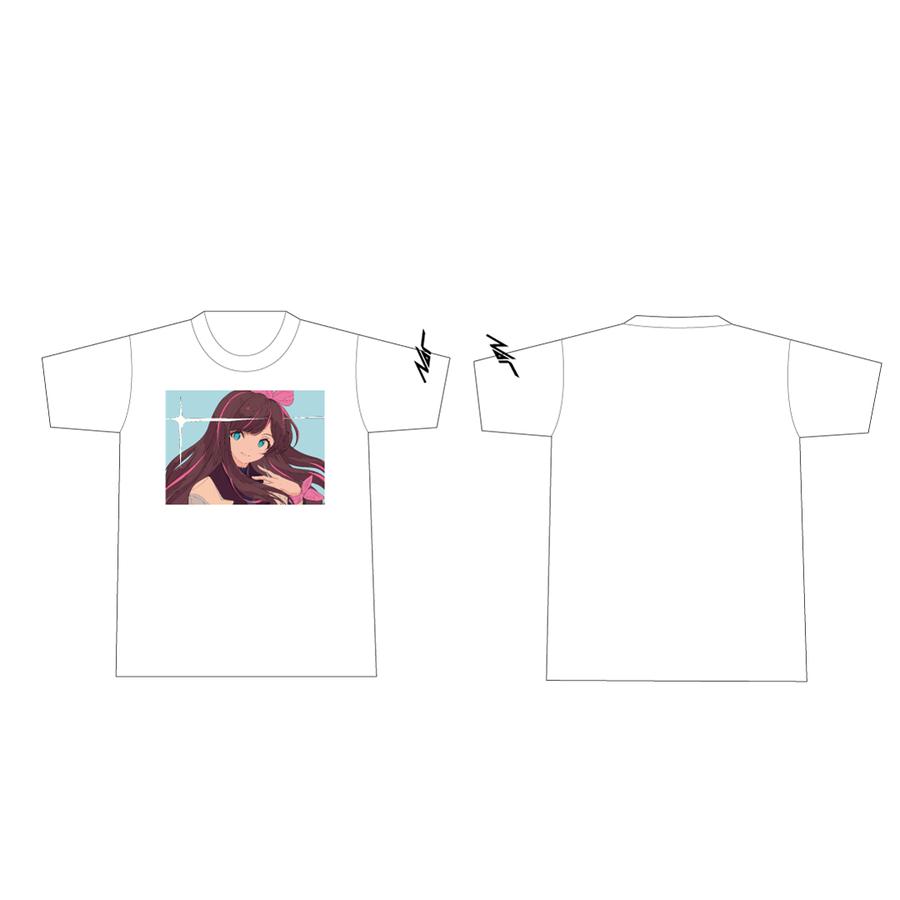 Nor × Kizuna AI Tシャツ White