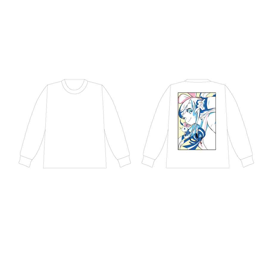 DE DE MOUSE × Kizuna AI ロングスリーブT White