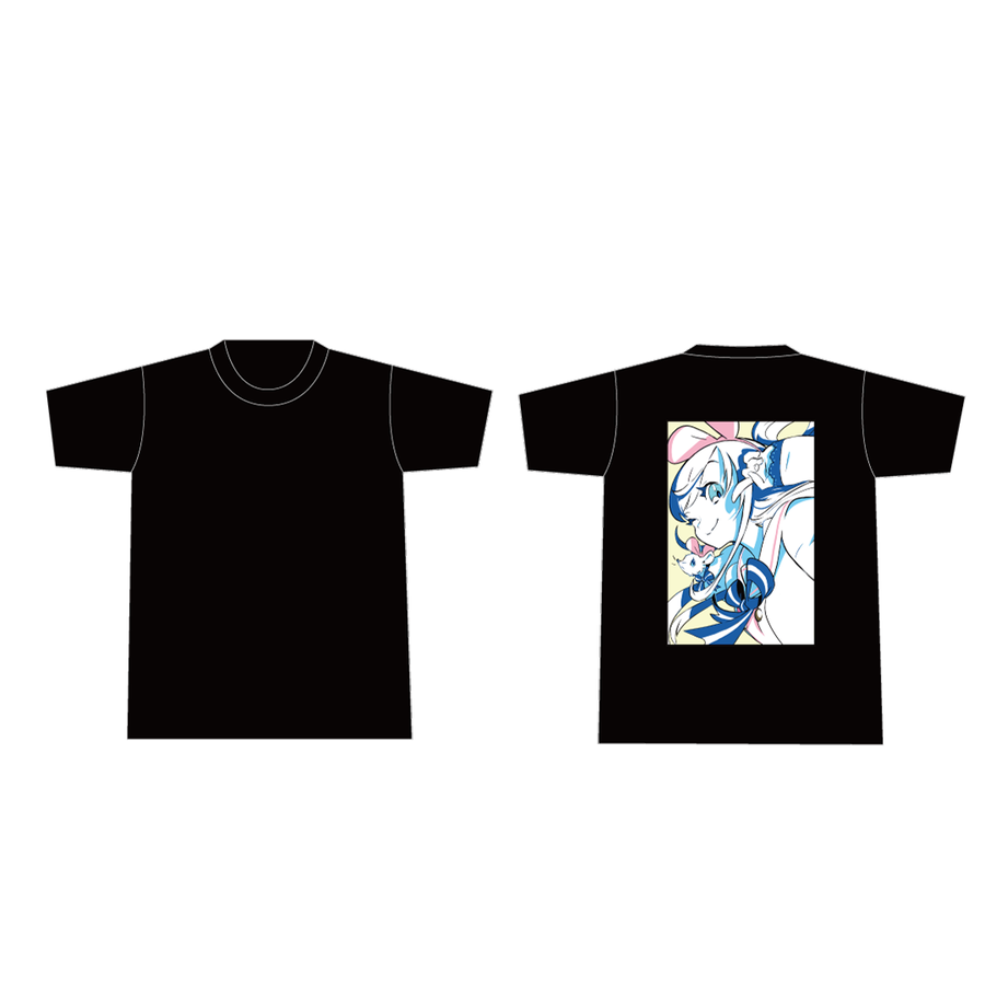 DE DE MOUSE × Kizuna AI Tシャツ Black
