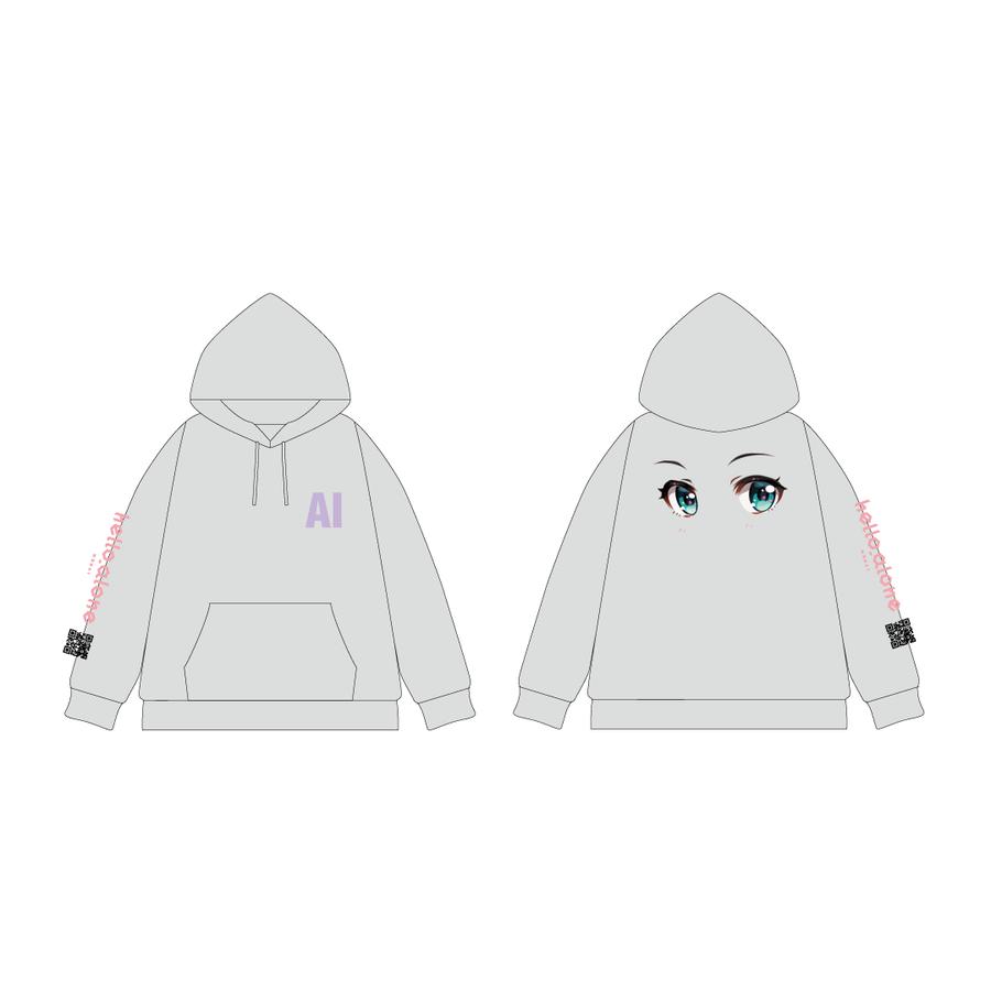 MATZ × Kizuna AI プルオーバーパーカー Gray