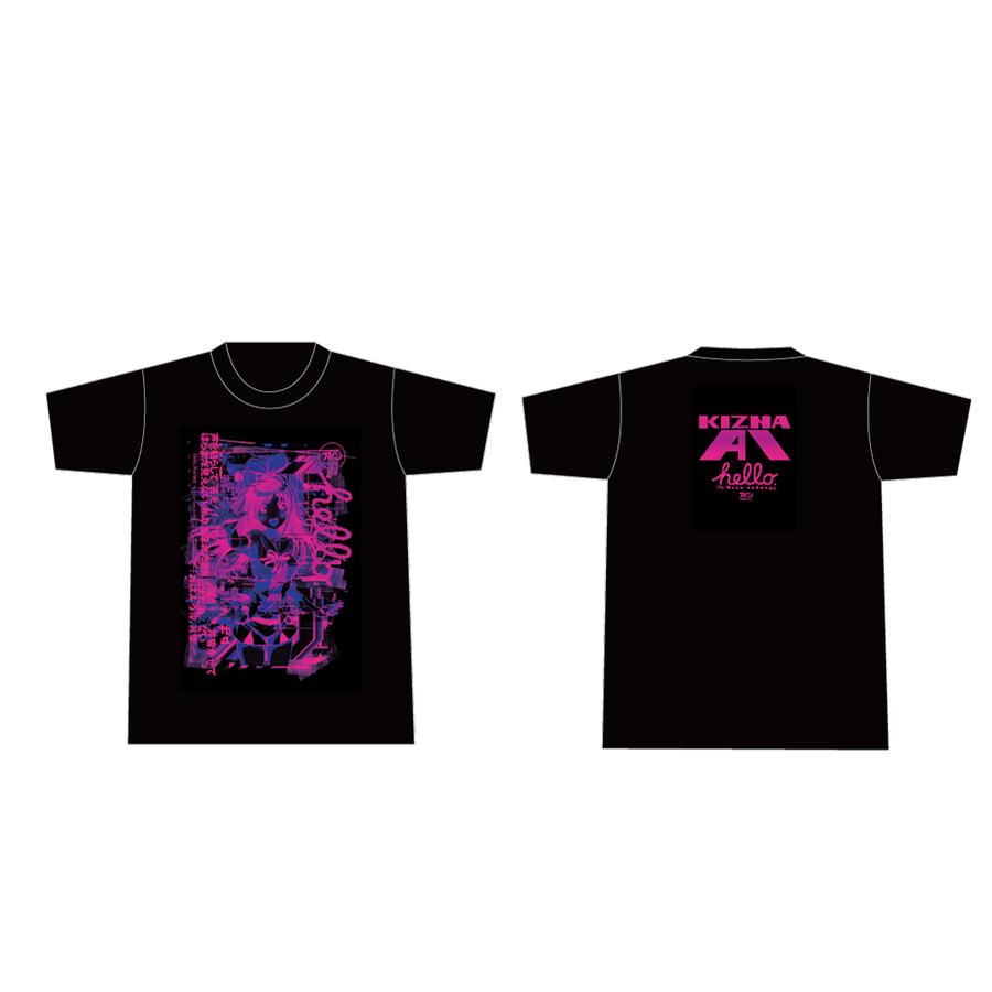 Pa's Lam System × Kizuna AI Tシャツ Black