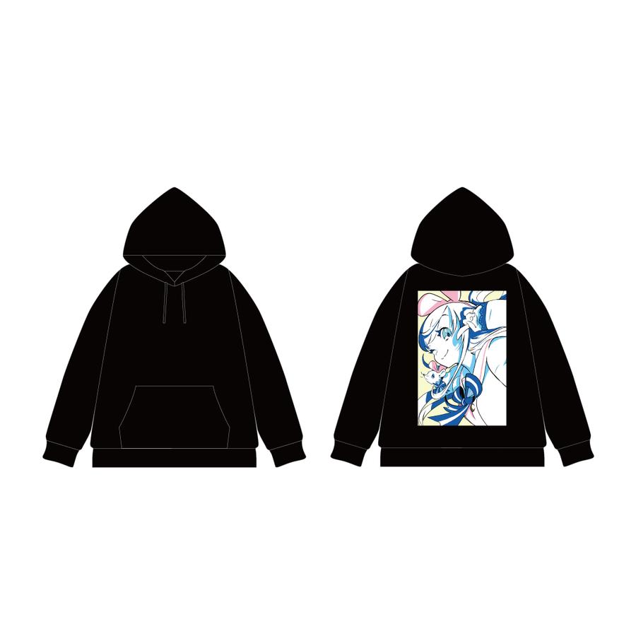 DE DE MOUSE × Kizuna AI プルオーバーパーカー Black