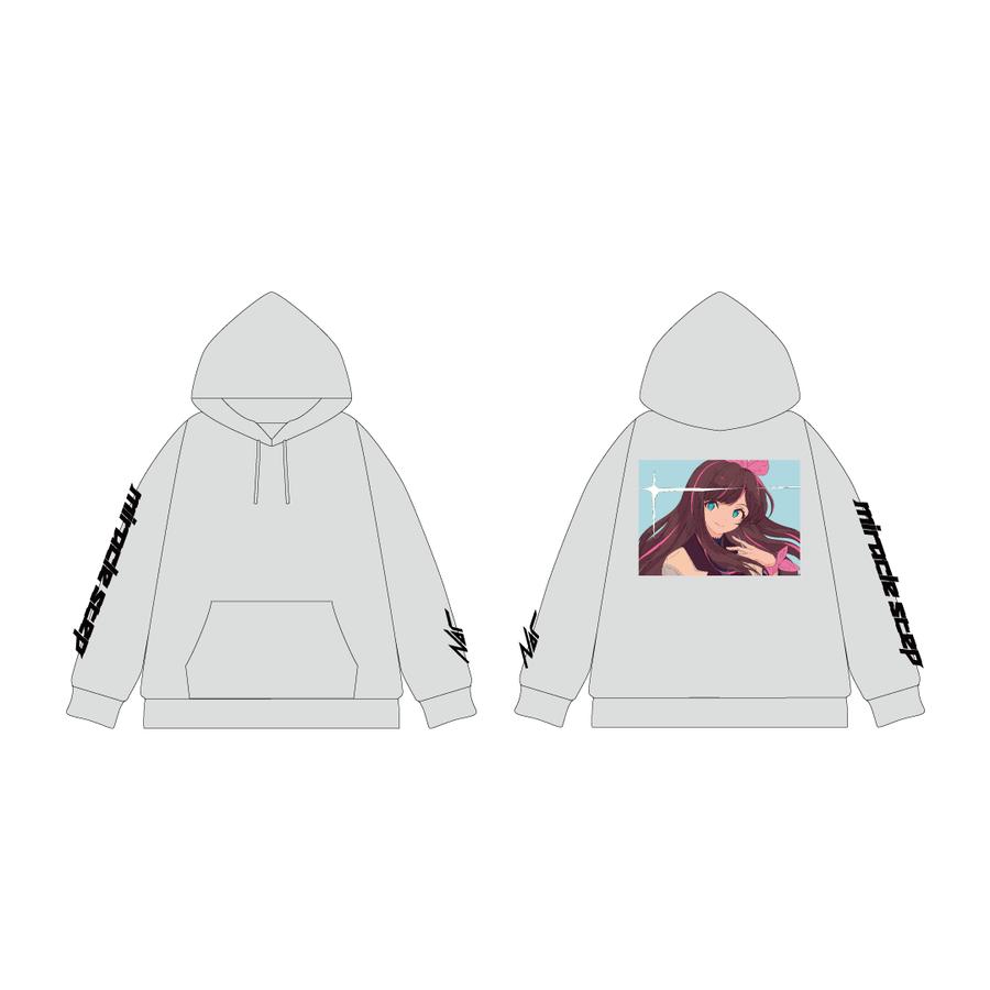 Nor × Kizuna AI プルオーバーパーカー Gray