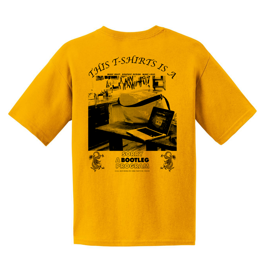SORRY STAFF - Tee  GOLD YELLOW