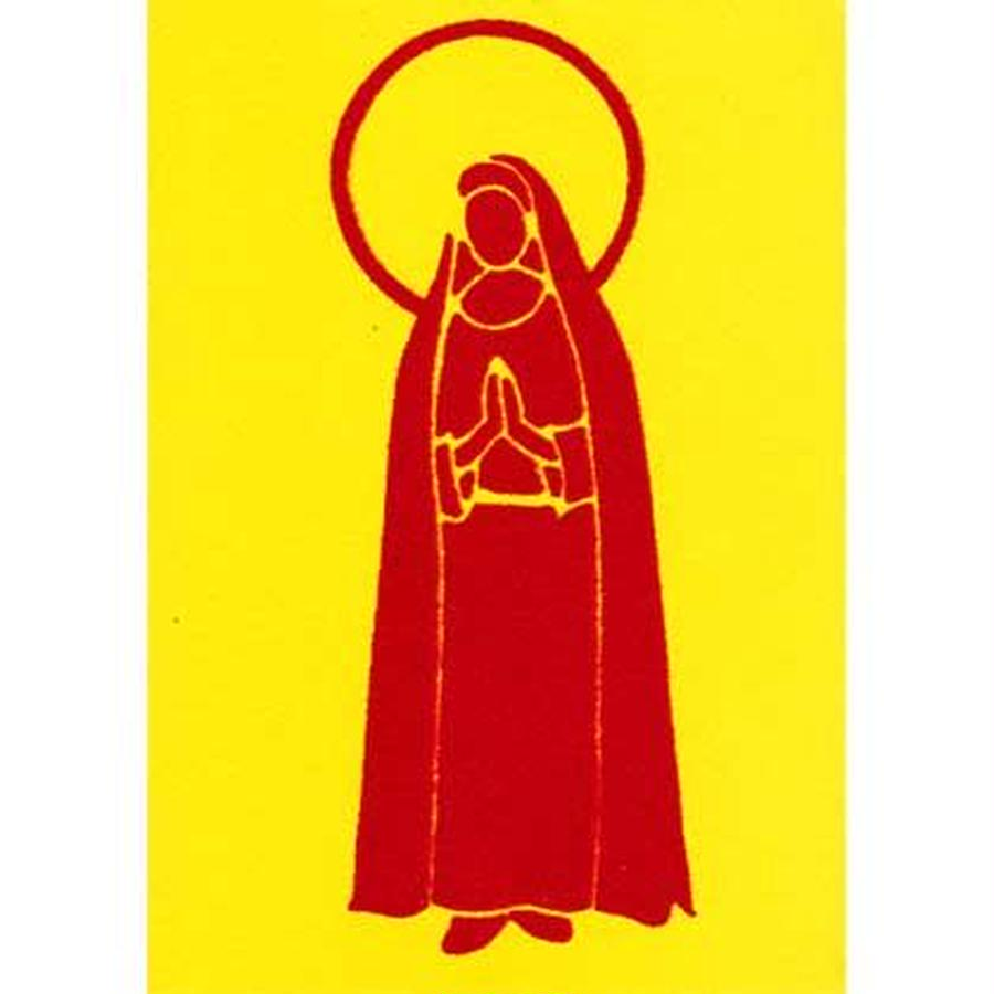 "L.M.kartenvertrieb ""mary"" flocky postcard -yellow- (glmf002)"
