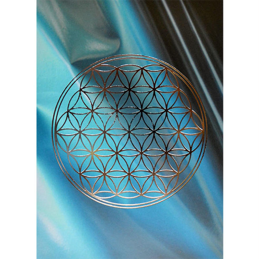 """flower of life"" postcard -sax water × silver- (spc003-4)"
