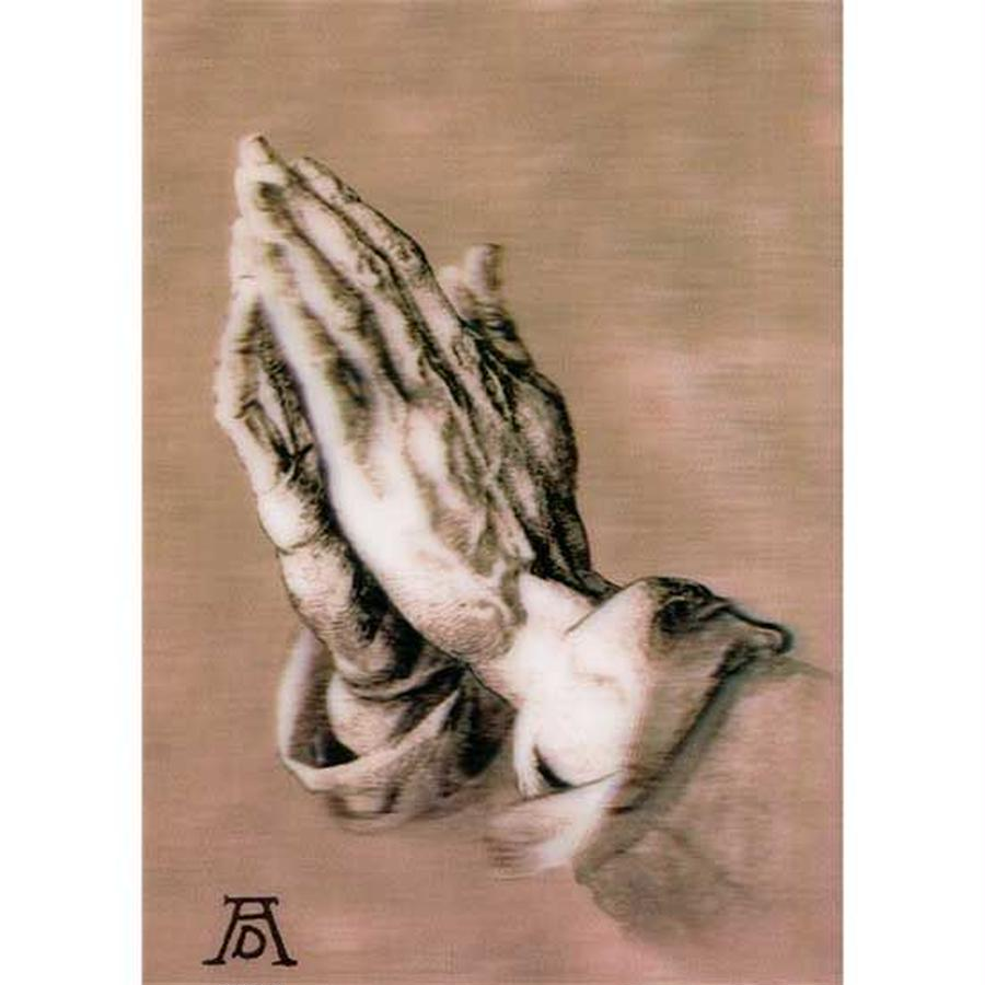 """L.M.kartenvertrieb""praying hands 3D postcard(glm3005)"