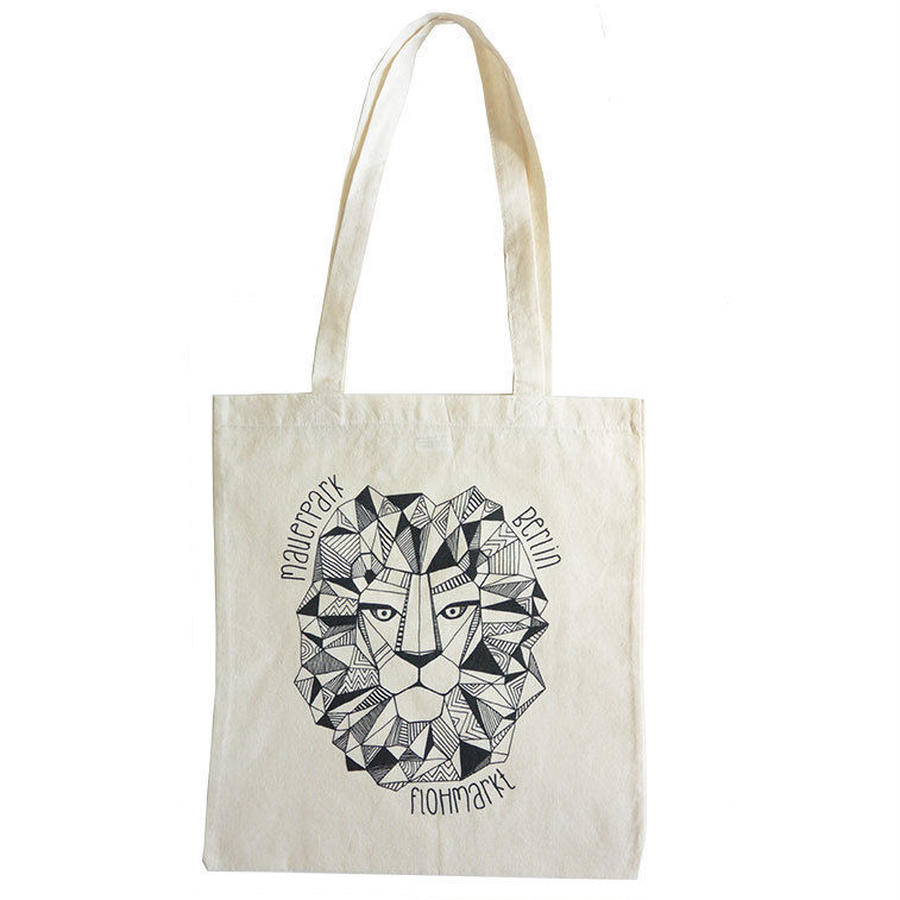 "mauerpark official tote bag ""lion"" (gbk009)"