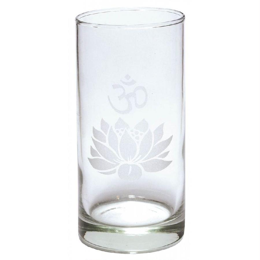"""lotus & om"" glass (ss002)"