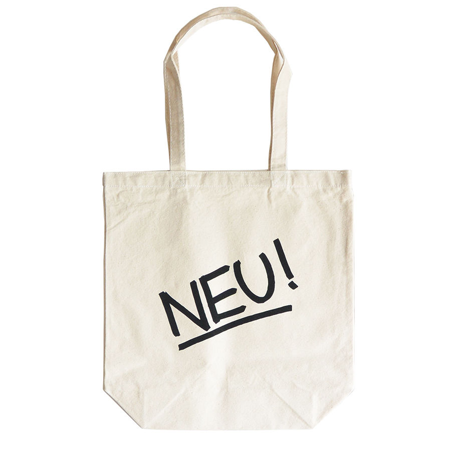"""NEU!""/ Cotton Canvas Tote Bag / Natural (luz.neu.t)"