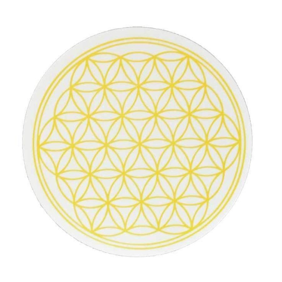 """flower of life"" sticker yellow (sst002-3)"