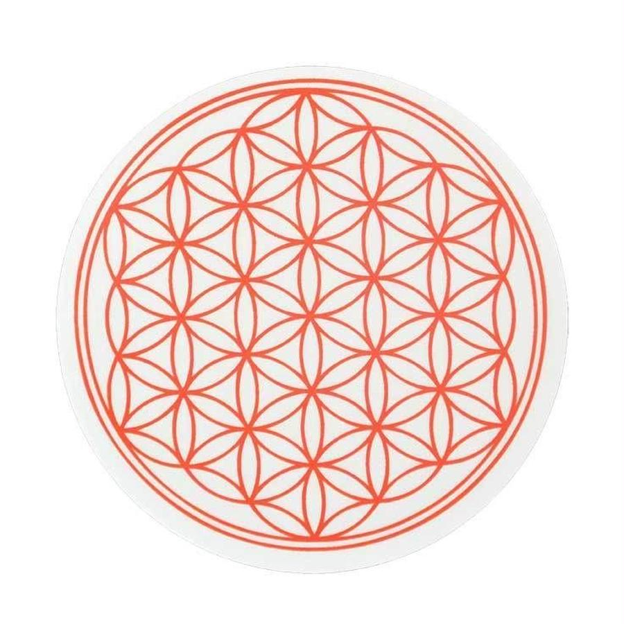 """flower of life"" sticker red (sst002-1)"