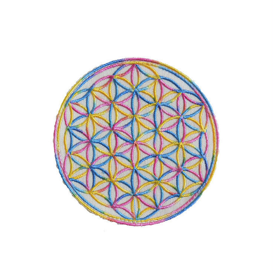 flower of life patch rainbow (gw007a)(sw001)
