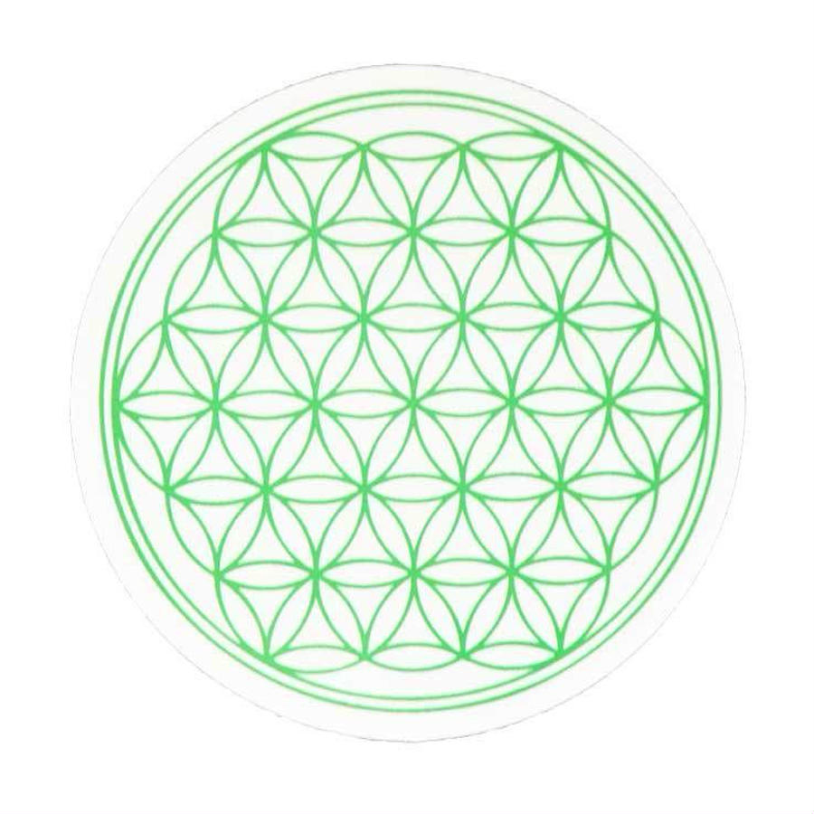 """flower of life"" sticker green (sst002-4)"