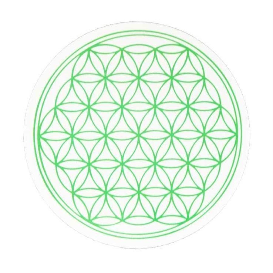 """flower of life"" sticker green (sst002-4)"