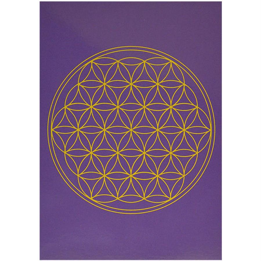 """flower of life""  postcard -purple- (spc002-7)"
