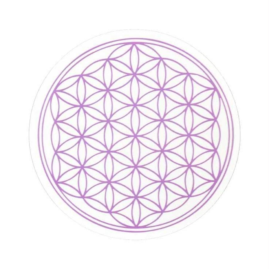 """flower of life"" sticker purple (sst002-7)"