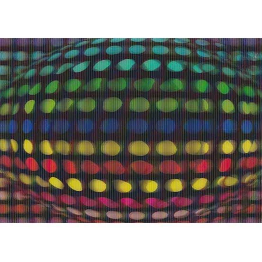 """""""L.M.kartenvertrieb""""rainbow dot 3D postcard (glm3008)"""
