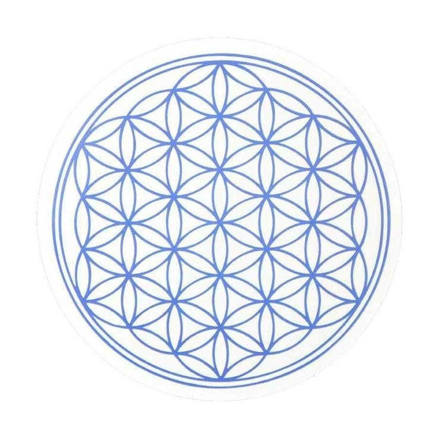 """flower of life"" sticker indigo (sst002-6)"