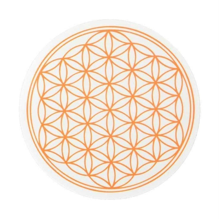 """flower of life"" sticker orange (sst002-2)"