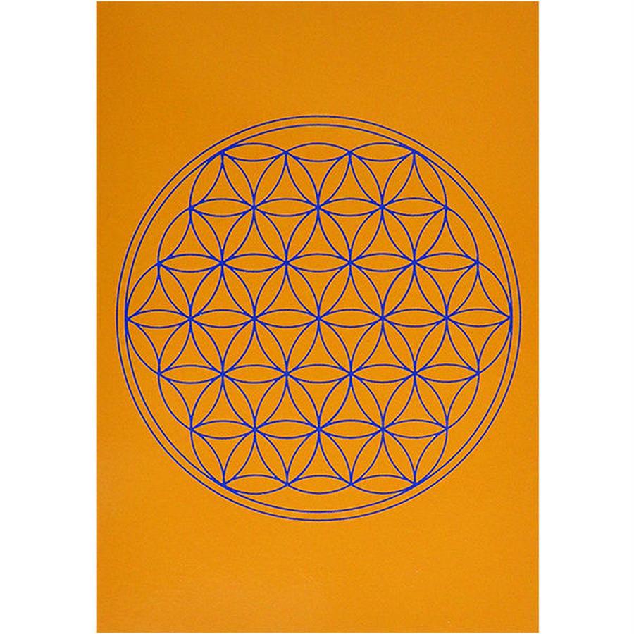 """flower of life""  postcard - orange- (spc002-2)"