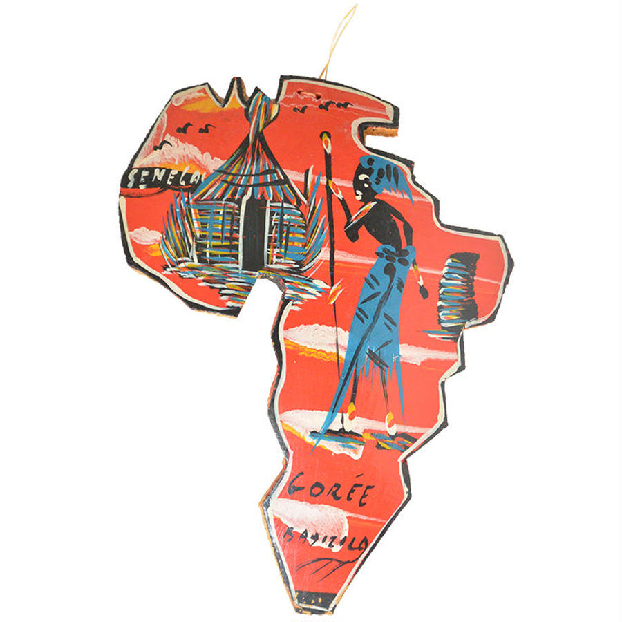 """""""africa"""" coconuts ornament (m023)"""