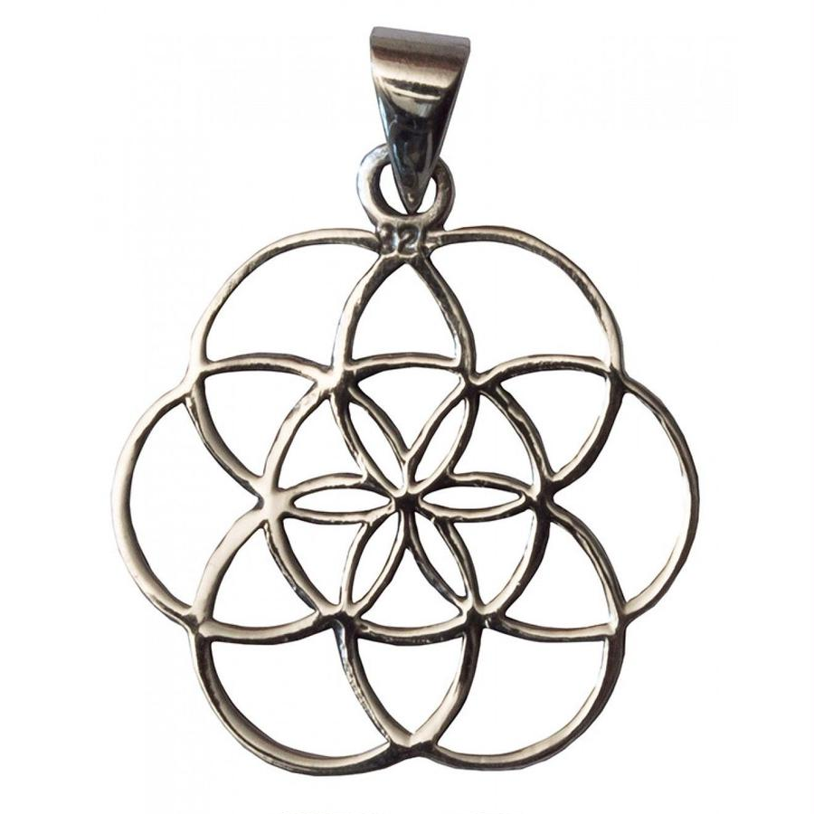 """seed of life""  silver 925 pendant top  (sat009)"
