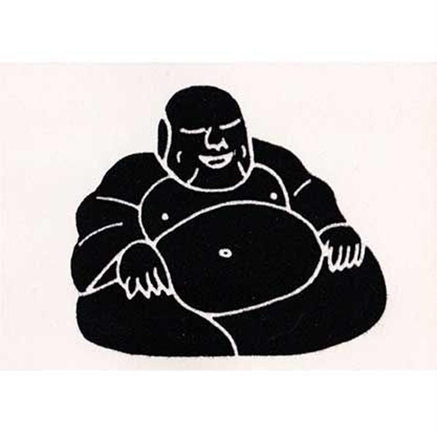 "L.M.kartenvertrieb ""buddha"" flocky postcard -white- (glmf001)"