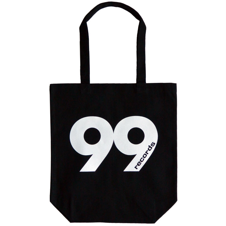 """99 records"" / Cotton Canvas Tote Bag / Black (luz.99.t)"