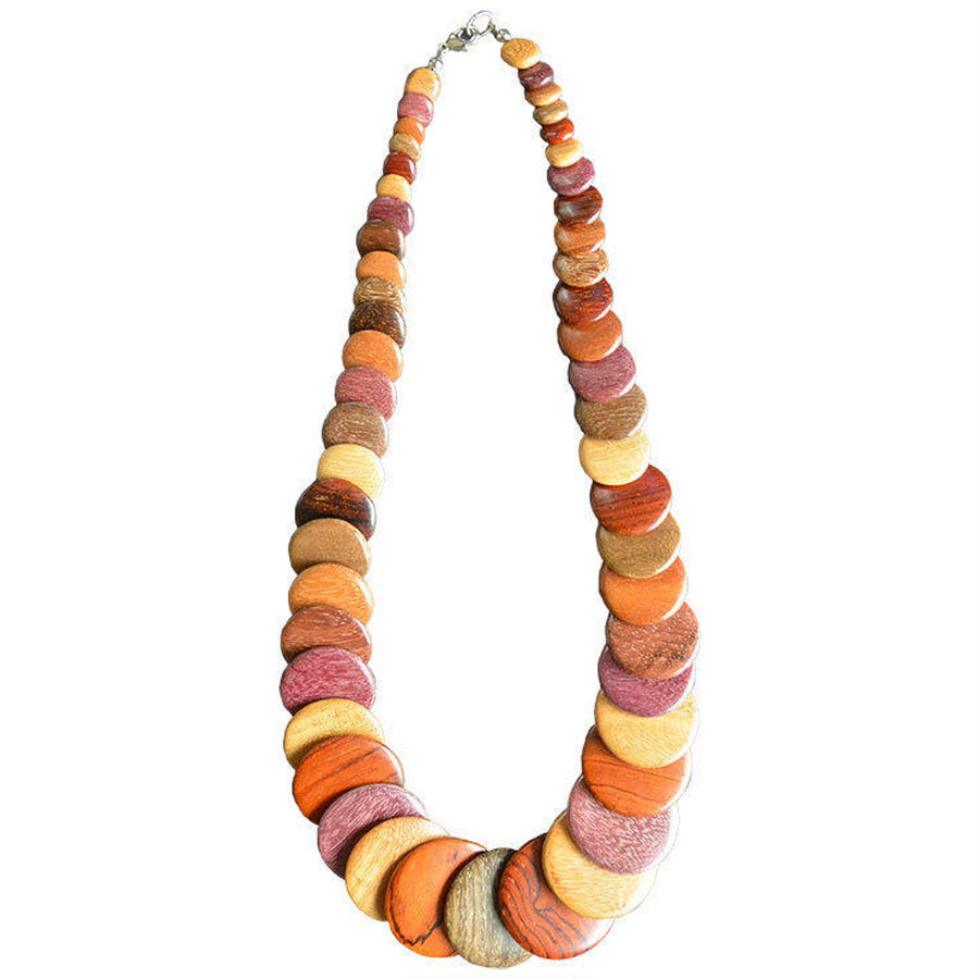 germany handmade wood necklace (gan009a_m)