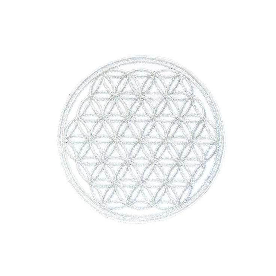 flower of life patch gray (sw002)