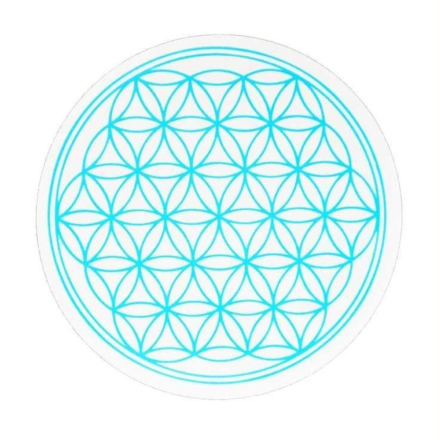"""flower of life"" sticker blue (sst002-5)"